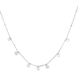 COINS STERLING SILVER NECKLACE