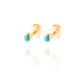 TURQUOISE GOLD VERMEIL STUDS