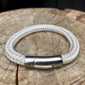 Kailash 'Heroiaca Cord' White Armband Maat L
