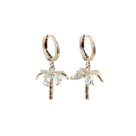 PALM TREE EARRING SILVER  PLATED