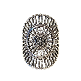 BOHO MANDALA RING STERLING ZILVER 18.25