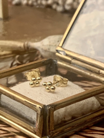 FOUR DOTS GOLD VERMEIL OORSTEKERS