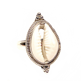 COWRIE SHELL RING STERLING SILVER