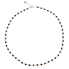 TIGER EYE STERLING SILVER NECKLACE