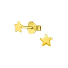 STAR OORSTEKERS GOLD VERMEIL