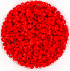 MIYUKI ROCAILLES, 3 MM KRALEN, OPAQUE MATTE RED 408F