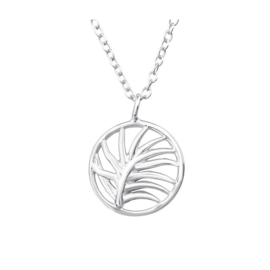 PALM LEAF STERLING ZILVER KETTING