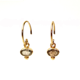 OVAL LABRADORITE GOLD VERMEIL EARRINGS / MUJA JUMA