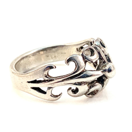 OPEN TRIBAL RING STERLING ZILVER MAAT 20