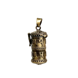 TIBET BRASS PRAYER BOX PENDANT