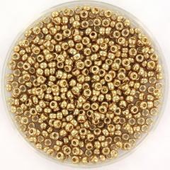 MIYUKI ROCAILLES, 2 MM KRALEN, GALVANIZED CHAMPAGNE 4204