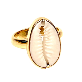 COWRIE SHELL RING GOLD VERMEIL