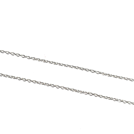 STERLING ZILVER BASIS KETTING 51 CM