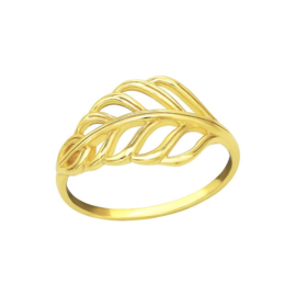 LEAF RING GOLD VERMEIL