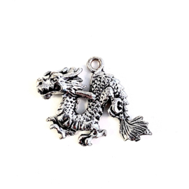 DRAAK BEDEL SILVER PLATED