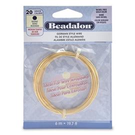 BEADALON BUIGDRAAD 20 GAUGE ROUND GOLD