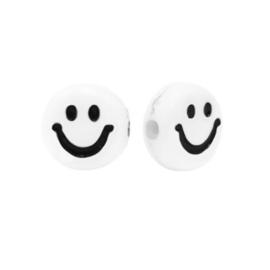 ACRYL SMILEY KRALEN BLACK&WHITE ( 6 PCS)