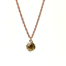 LABRADORITE GOLD PLATED NECKLACE