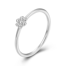 TINY FLOWER RING STERLING SILVER