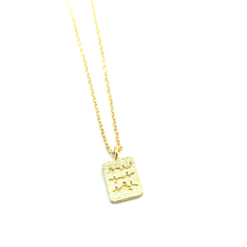 SECRET MESSAGE GOLD VERMEIL KETTING / MUJA JUMA