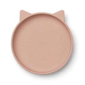 Liewood siliconen bord Olivia Cat Rose