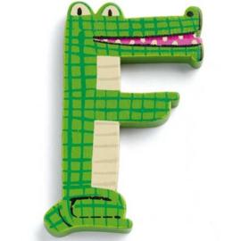 Djeco houten letter F
