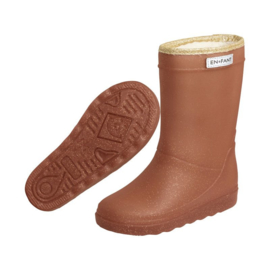 * Enfant * Thermo Boots glitter leather brown