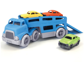 Green Toys oplegger met drie auto's / gerecycled