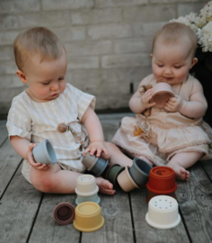 Mushie stacking Cups Toy Original / stapeltoren  + 6 mnd