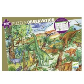 Djeco Obbservatie puzzel Diosaurussen 100 stukjes (5+)