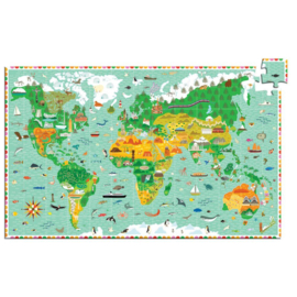 Djeco Observatie puzzel Around The World 200 stukjes (6+)