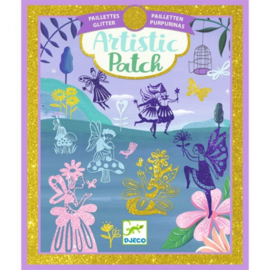 Djeco Artistic Patch glitter transfer plaatjes Fairyland (6+)