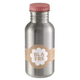 Blafre RVS drinkfles met roze dop 500 ml