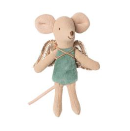 Maileg Fairy mouse little sister lichtblauw