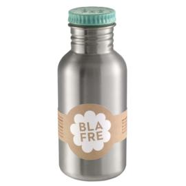 Blafre RVS drinkfles met lichtblauwe dop 500ml