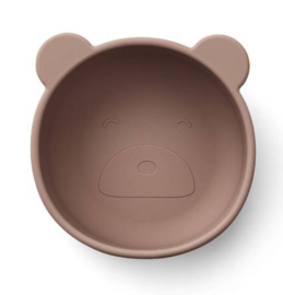 Liewood Iggy siliconen bowl Bear dark rose