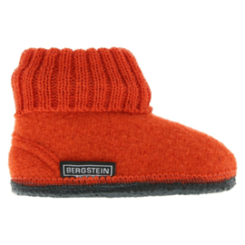 Bergstein Cozy wollen pantoffels Orange