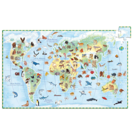 Djeco Observatie puzzel  World's Animals 100 stukjes (5+)