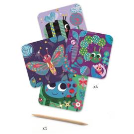 Djeco kraskaarten Kleine Beestjes 3+
