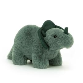 Jellycat Fossilly Triceratops Mini knuffel