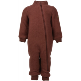 Mikk-line wollen suit Madder Brown