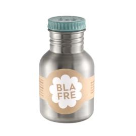 Blafre RVS drinkfles met lichtblauwe dop 300 ml
