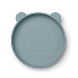 Liewood siliconen bord Olivia Bear Sea Blue