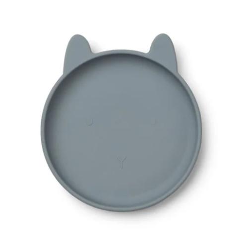 Liewood siliconen bord Olivia Rabbit Blue Wave