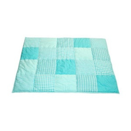 Taftan Boxkleed Ruitjes Patch - Turquoise