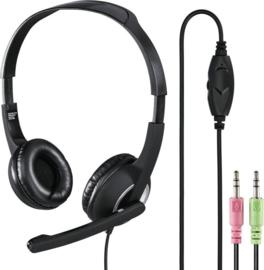"""Hoofdtelefoon Hama HS300 On Ear zwart - PC-Office-headset """"HS-P150"""", stereo, zwart"""