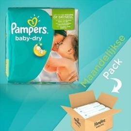 Pampers Baby Dry maat 3 Maandbox  4-9 kilo 198 Luiers