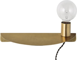 Bloomingville - Wandlamp - Metaal - Brushed Goud Finish - E27 40W zonder lichtbron