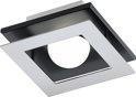 EGLO Bellamonte - Plafonnière - 1 Lichts - LED - Chroom, Zwart Aluminium - Wit - 14x14cm