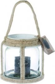 Riverdale Casual Windlicht 19cm - Wit